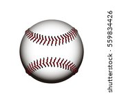 isolated baseball ball on a... | Shutterstock .eps vector #559834426