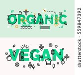 for groceries  organic  vegan... | Shutterstock .eps vector #559847392
