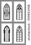 Set Of Gothic Windows Of...