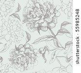 peony seamless pattern | Shutterstock .eps vector #55985248