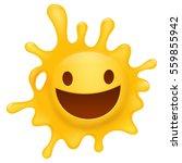 yellow smiley face splash... | Shutterstock .eps vector #559855942