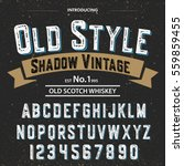 typeface.label. old style... | Shutterstock .eps vector #559859455