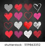 vector color chalk drawn... | Shutterstock .eps vector #559863352