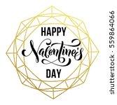 premium gold valentine day... | Shutterstock .eps vector #559864066