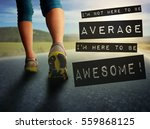 athletic pair of legs on... | Shutterstock . vector #559868125