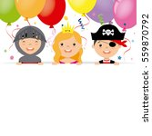 costume party card. pirate ... | Shutterstock .eps vector #559870792