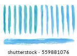 Artistic Blue paint hand made tracing from sketch Vector Illustration