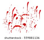 abstract blood splash hand made ... | Shutterstock .eps vector #559881136