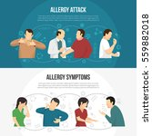 two horizontal colored allergy... | Shutterstock .eps vector #559882018