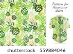 tropical aloha pattern. vector... | Shutterstock .eps vector #559884046