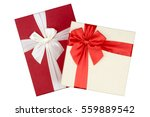red and white gift box  red... | Shutterstock . vector #559889542