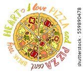 vector illustration pizza  an... | Shutterstock .eps vector #559890478
