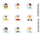 avatar of different people... | Shutterstock . vector #559890496