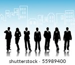 business visit card | Shutterstock .eps vector #55989400