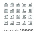 architecture. set of outline... | Shutterstock .eps vector #559894885