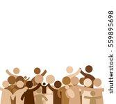 community concept   pictogram... | Shutterstock .eps vector #559895698