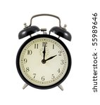 retro alarm clock showing two... | Shutterstock . vector #55989646