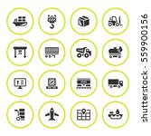 set round icons of logistic | Shutterstock .eps vector #559900156