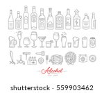 set of alcohol icons in flat... | Shutterstock .eps vector #559903462