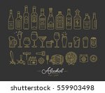 set of alcohol icons in flat... | Shutterstock .eps vector #559903498