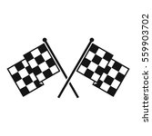 checkered racing flags icon.... | Shutterstock . vector #559903702