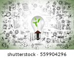 idea for business growth with... | Shutterstock . vector #559904296