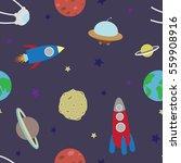 seamless pattern space | Shutterstock .eps vector #559908916