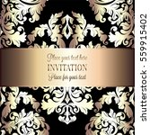 baroque background with antique ... | Shutterstock .eps vector #559915402