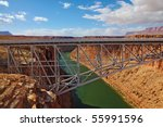 sleek modern bridge across the... | Shutterstock . vector #55991596