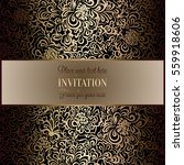 baroque background with antique ... | Shutterstock .eps vector #559918606