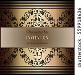 baroque background with antique ... | Shutterstock .eps vector #559918636