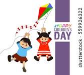 happy children's day graphic... | Shutterstock .eps vector #559926322