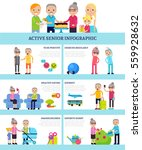 active senior people flat...   Shutterstock .eps vector #559928632