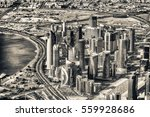 Stock photo doha skyline aerial view qatar 559928686