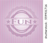 fun badge with pink background | Shutterstock .eps vector #559931716
