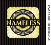 nameless golden badge | Shutterstock .eps vector #559931926