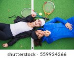 view of two attractive girls... | Shutterstock . vector #559934266