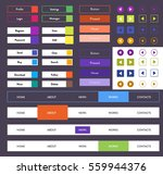 colorful flat ui kit with web...