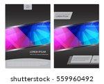 brochure template elegant... | Shutterstock .eps vector #559960492