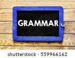 grammar   blackboard chalk... | Shutterstock . vector #559966162