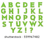 monster font. horrible alphabet ... | Shutterstock .eps vector #559967482