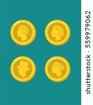 icons of gold coins with...   Shutterstock .eps vector #559979062