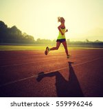 young fitness woman runner... | Shutterstock . vector #559996246