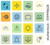 set of 16 business management... | Shutterstock .eps vector #559998628