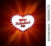 heart frame. valentines day... | Shutterstock .eps vector #560004172