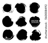abstract black big circle... | Shutterstock .eps vector #560008492