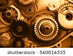 engine gears wheels  closeup... | Shutterstock . vector #560016535