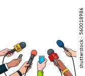 journalism concept vector... | Shutterstock .eps vector #560018986