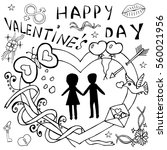 happy valentine's day... | Shutterstock .eps vector #560021956