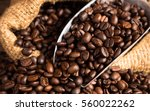 coffee beans with bag still...   Shutterstock . vector #560022262